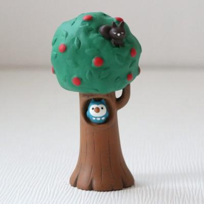 데꼴 otogicco 마스코트 올빼미 나무