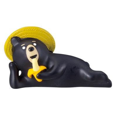 데꼴 concombre 마스코트 바나나 먹는 곰