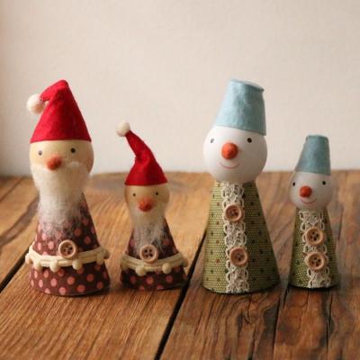 피콜로 크리스마스 장식인형 (4type)
