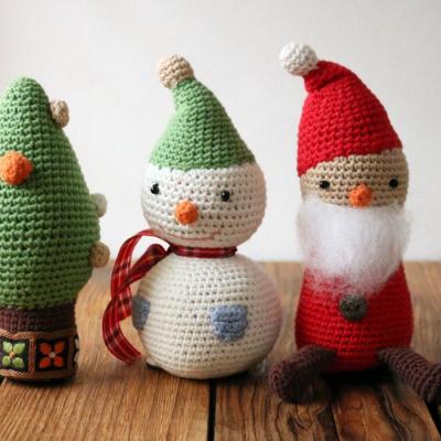 피콜로 크리스마스 뜨개인형 L (3design)
