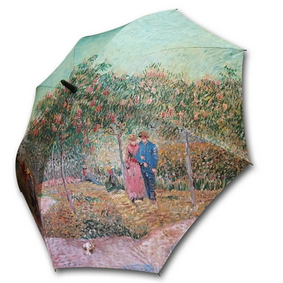 명화_우블리-고흐 연인이 있는 정원 65우산양산겸용 멜빵자동우산