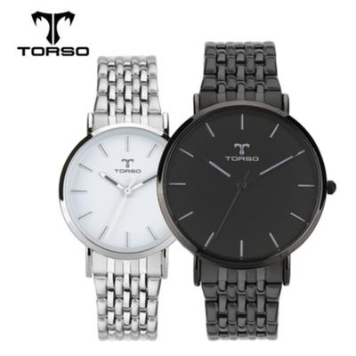 TORSO 토르소 메탈 커플 손목시계 T22