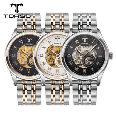 TORSO 토르소 스켈레톤 오토메틱 T24 블랙 (D버클 가죽밴드 추가증정)
