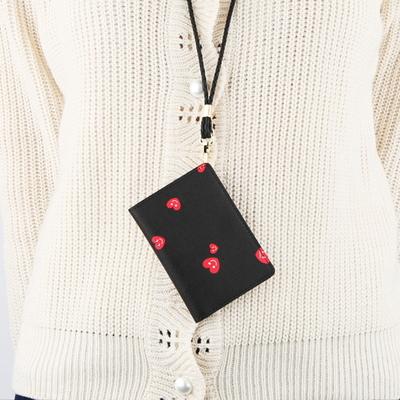 하트칩 - 블랙 목걸이 카드지갑 (LSB1804CW037)