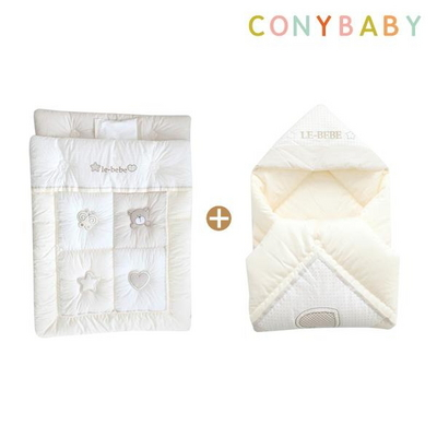 [CONY]오가닉꿀잠겉싸개이불요세트(신생아차렵이불)