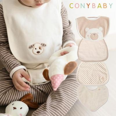 [CONY]코니베이비 오가닉 신생아턱받이 5종택1