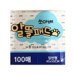 쏘아베 절약형 애견 배변패드 100매