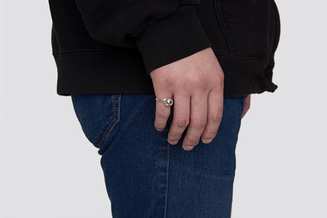 10미리 구슬 은반지 - 실버웍스, 35,800원, 남성주얼리, 반지