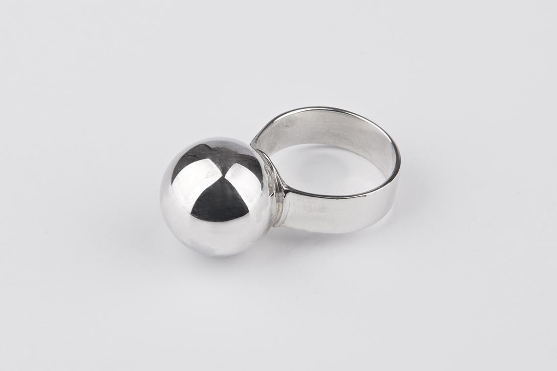 16미리 구슬 은반지 - 실버웍스, 78,800원, 남성주얼리, 반지