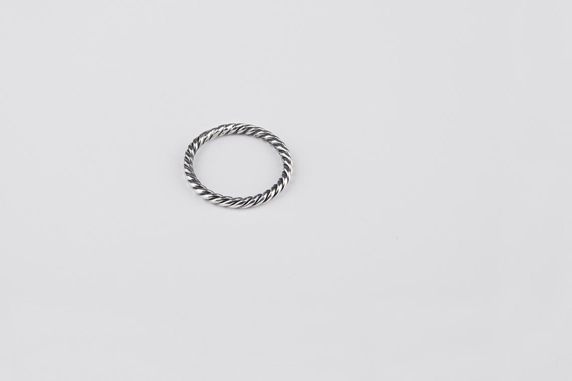 2.5미리 꽈배기 원형 은반지 - 실버웍스, 18,000원, 남성주얼리, 반지