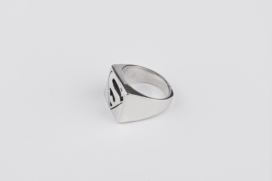 사각 슈퍼맨 은반지 - 실버웍스, 94,000원, 남성주얼리, 반지