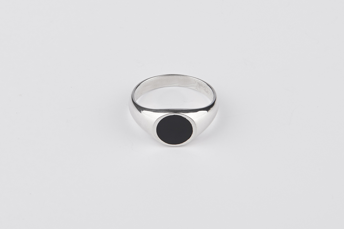 9.5미리 써클 오닉스 원석반지 - 실버웍스, 64,000원, 남성주얼리, 반지