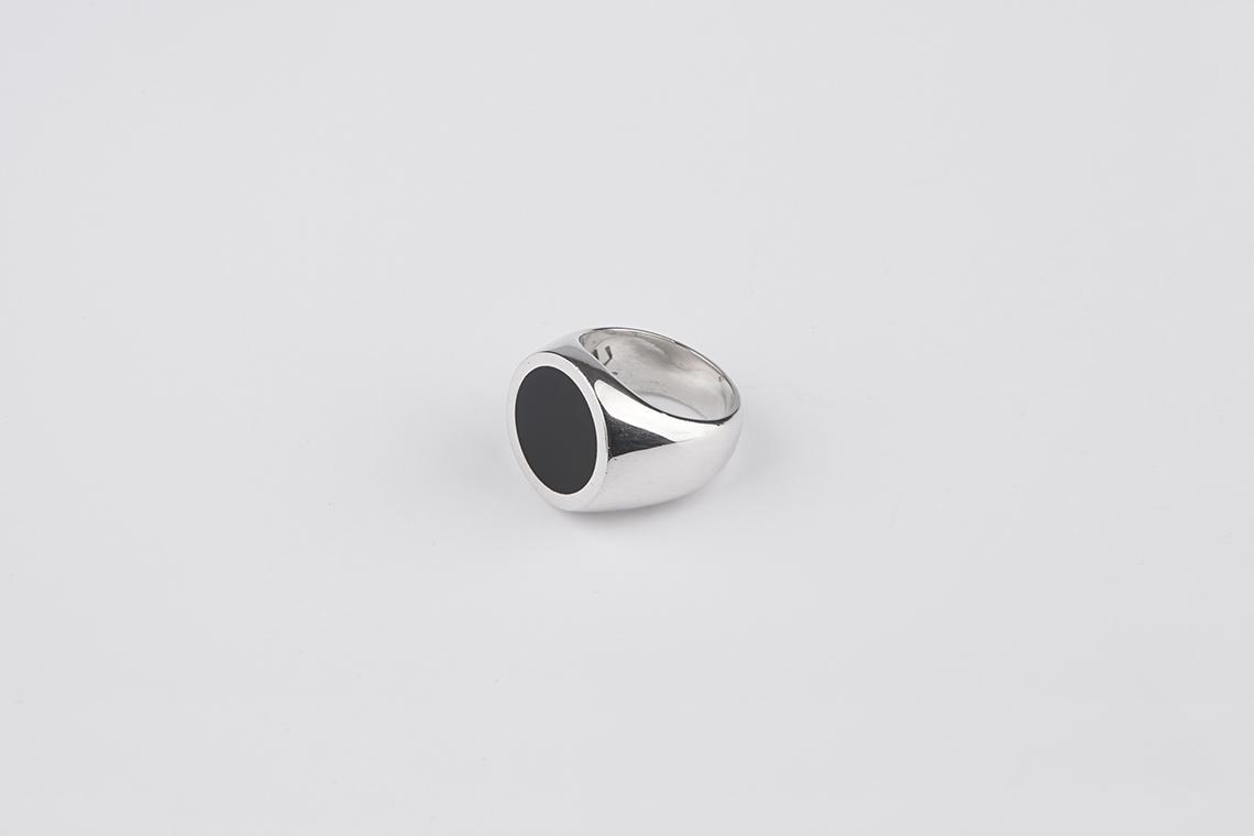 18미리 써클 오닉스 원석반지 - 실버웍스, 130,000원, 남성주얼리, 반지