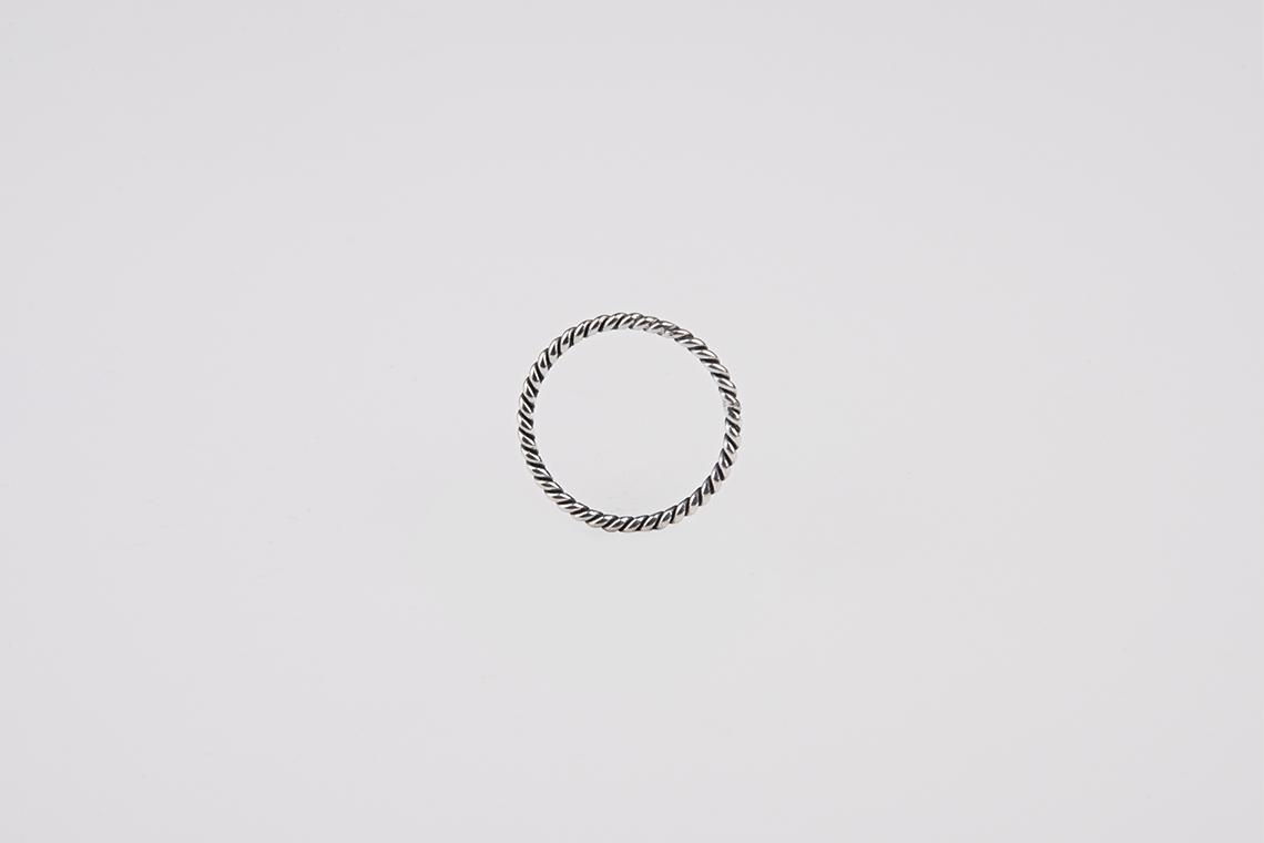 1.7mm 꽈배기 원형 은반지 - 실버웍스, 20,000원, 실버, 실반지
