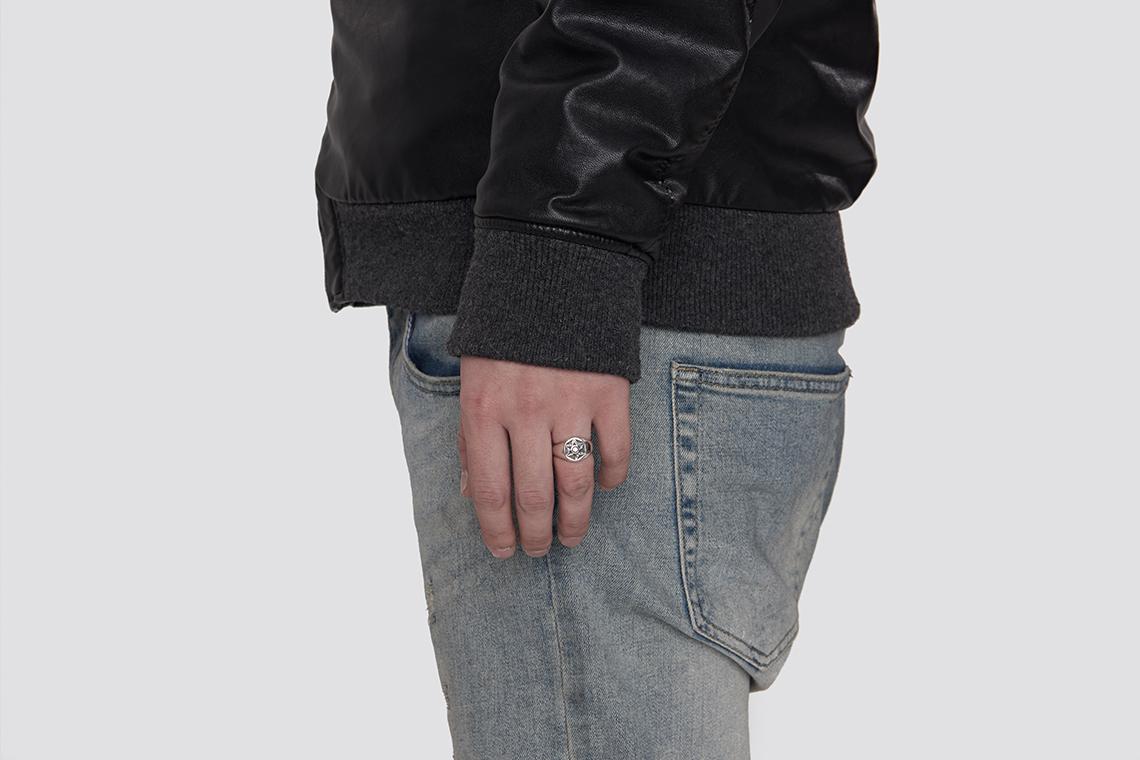 펜타그램 원석 은반지 - 실버웍스, 66,000원, 패션, 패션반지