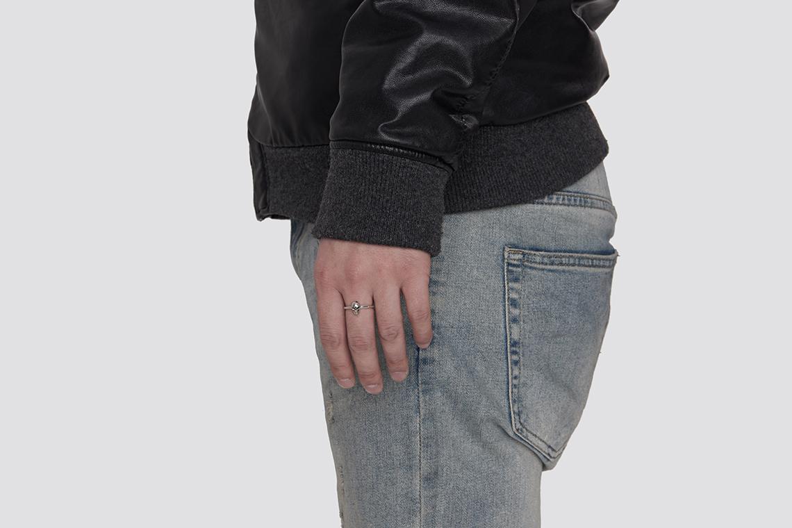 미니 해골 은반지 - 실버웍스, 45,000원, 패션, 패션반지