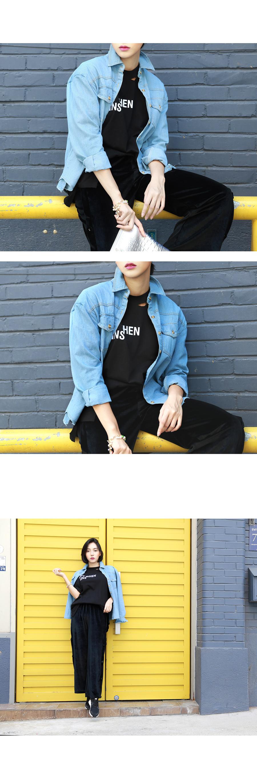 데님 셔츠와 언발 스커트 set - 명품유니, 63,000원, 원피스, 롱/미디원피스
