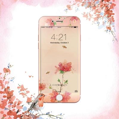꽃길만 걷게 해줄게 - 아이폰6Plus 6sPlus 디자인 강화유리