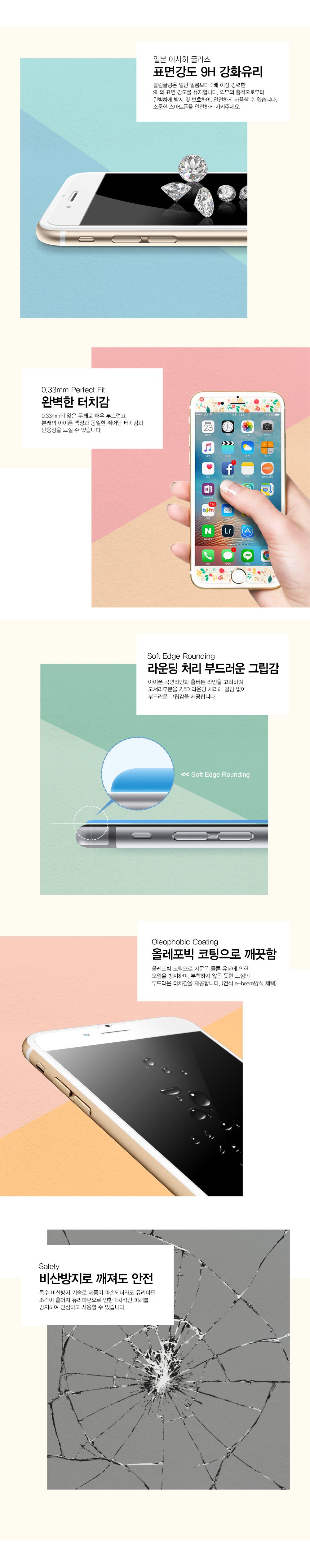 공주시리즈 - 인어공주 아이폰 디자인 강화유리 - 블링글링, 20,900원, 필름/스킨, 아이폰6/6 플러스