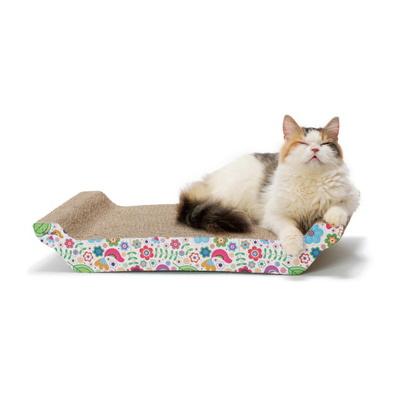 고양이 스크래쳐 바리바리베드 L 꽃무늬