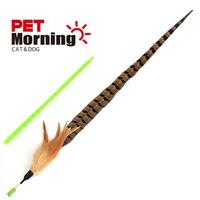펫모닝 고양이 낚시대 스윙캣 천연 꿩깃털 장난감 1개입