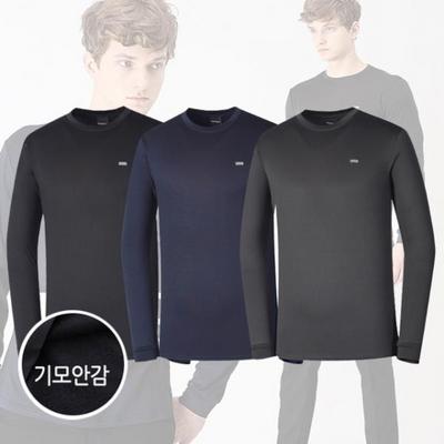 기모 남성라운드 긴팔 티셔츠/보온발열티셔츠