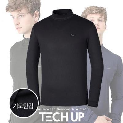 기모 남성반폴라 긴팔 티셔츠/보온발열티셔츠
