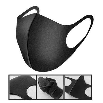 3D 연예인 블랙 입체 마스크 신소재 세척가능