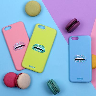아이폰6 6S 7 네온그린 레오파드 입술 아이폰케이스