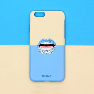 아이폰6 6S 7 베이지블루 지브라 입술 아이폰케이스