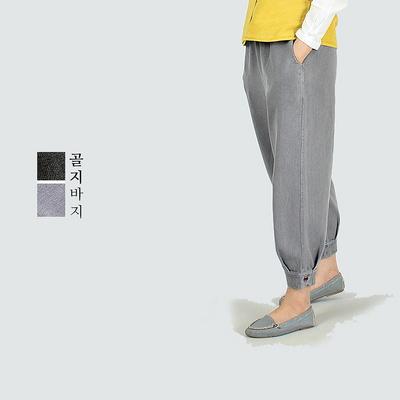 2846 앵두꽃자수 골지바지 2color