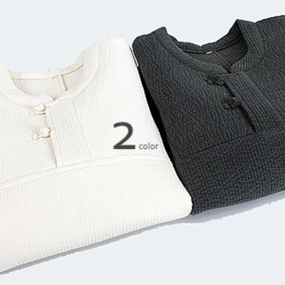 2435 라운드넥 잔골 순면 누빔 티셔츠 2color
