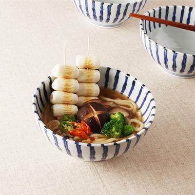 일본면기- 아오센 스트라이프 면기 우동기 일본그릇