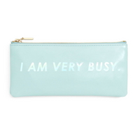 get it together pencil pouch I am very busy (ice blue)