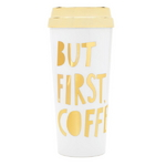 hot stuff thermal mug but first coffee special edition