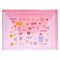 peekaboo folio sticker book translucent blush