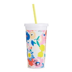 sip sip tumbler with straw - mega blooms