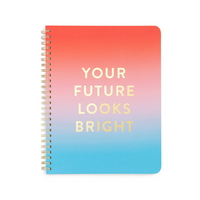 Rough draft mini notebook - your future looks brigh