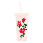 sip sip tumbler with straw - will you accept this rose