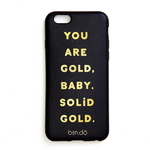 leatherette iphone 6 6s case - you are gold