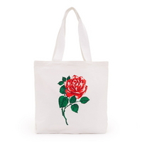 Canvas tote - will you accept this rose