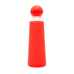 Cool it glass water bottle - red clear