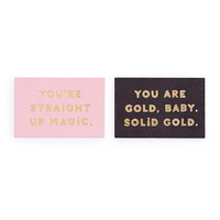 compliment card set - you are gold