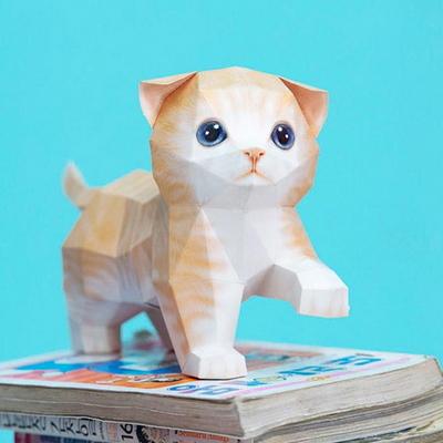 스코티시폴드 고양이 DIY 페이퍼크래프트 만들기