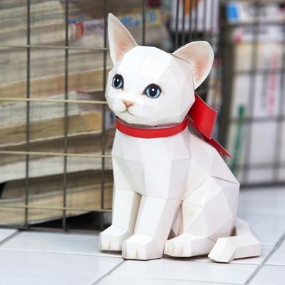 터키시앙고라 고양이 DIY 페이퍼토이 만들기