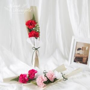 조화 카네이션 미니 꽃다발 (3COLOR)