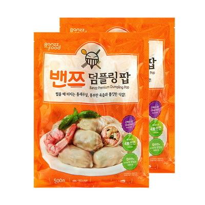 밴쯔만두 밴쯔덤플링팝(새우만두) 500gX2