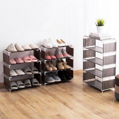 부직포 오픈 신발장 5단