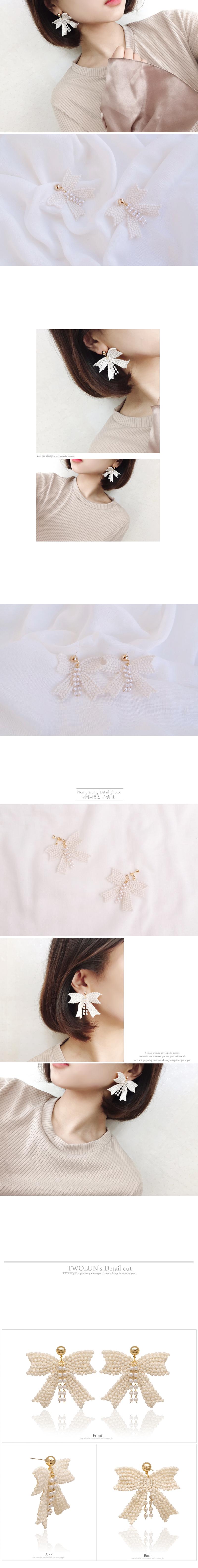 (은침)(귀찌가능) 노엘 리본 레이스 귀걸이7,900원-투니크, , , 바보사랑(은침)(귀찌가능) 노엘 리본 레이스 귀걸이7,900원-투니크, , , 바보사랑