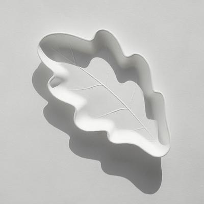 오크잎접시 M 25P (친환경 일회용접시)